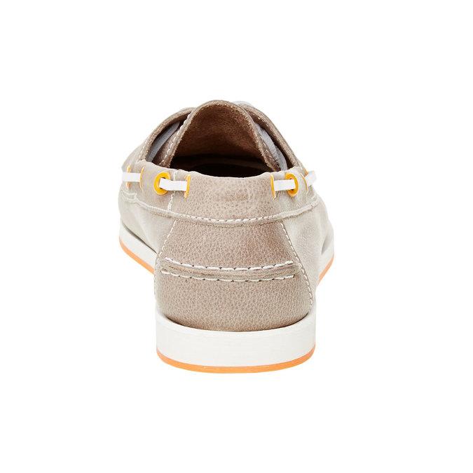 Pánské kožené mokasíny bata, šedá, 854-2188 - 17