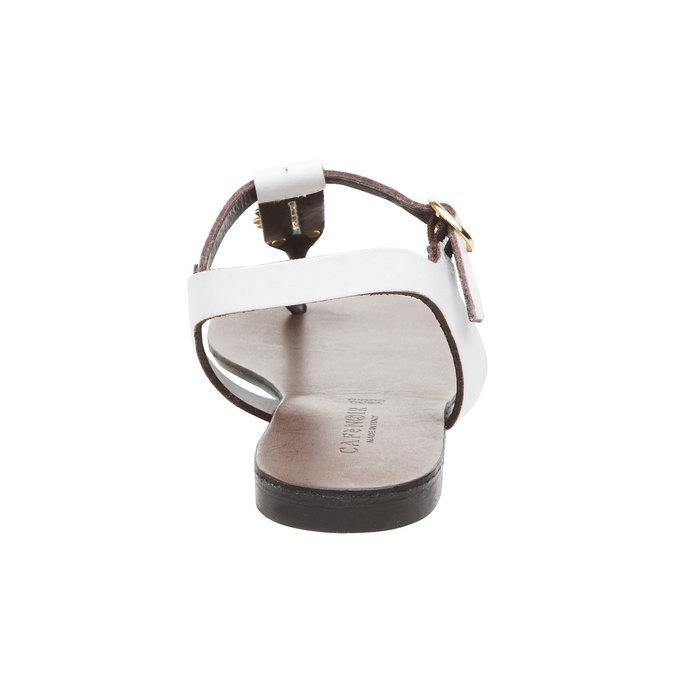 Kožené dámské sandály cafe-noir, bílá, 564-1040 - 17