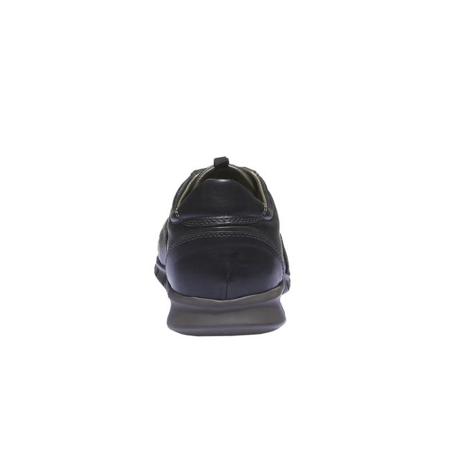 Kožené tenisky bata, černá, 844-6270 - 17