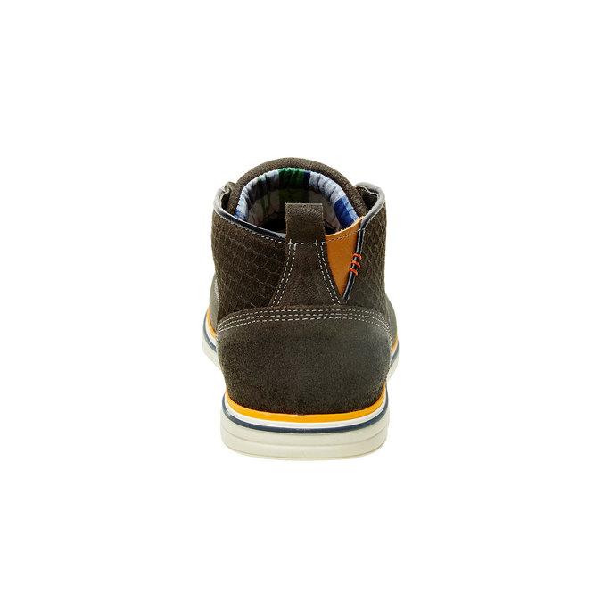 Kotníčkové kožené polobotky bata, hnědá, 843-2311 - 17