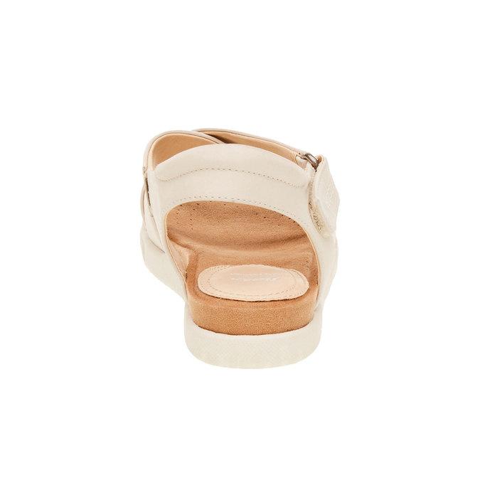 Dámské kožené sandály bata, béžová, 564-4351 - 17