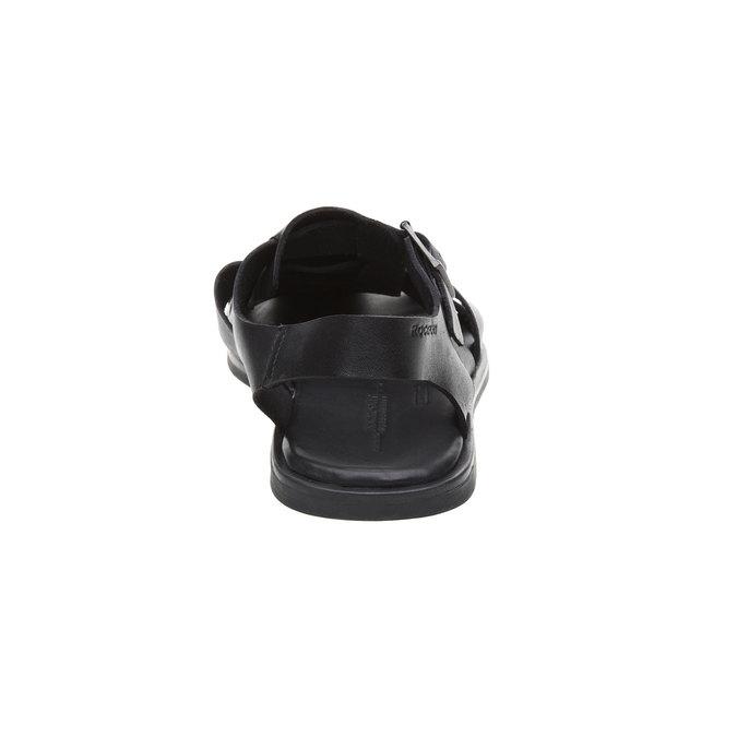 Černé pánské kožené sandály rockport, černá, 864-6104 - 17