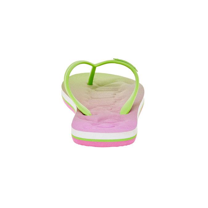 Dámské žabky pata-pata, zelená, růžová, 581-7601 - 17