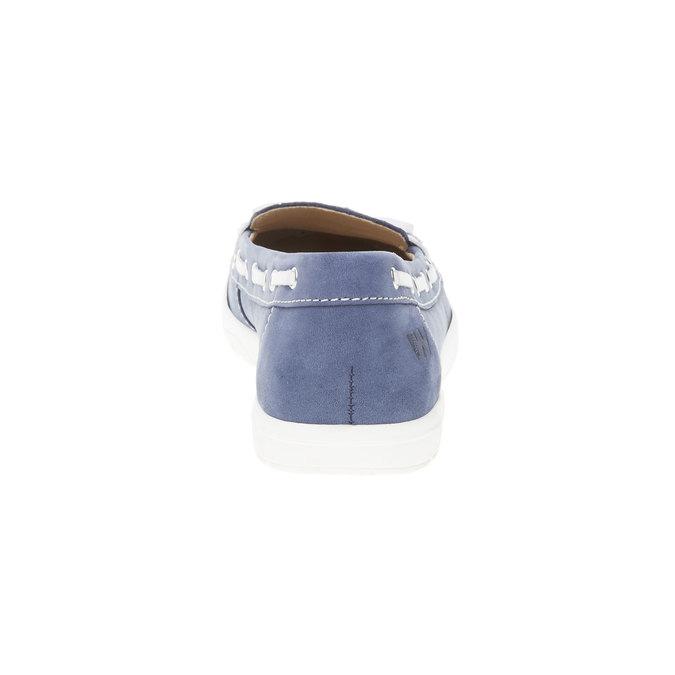 Dámské kožené mokasíny weinbrenner, modrá, 534-9116 - 17