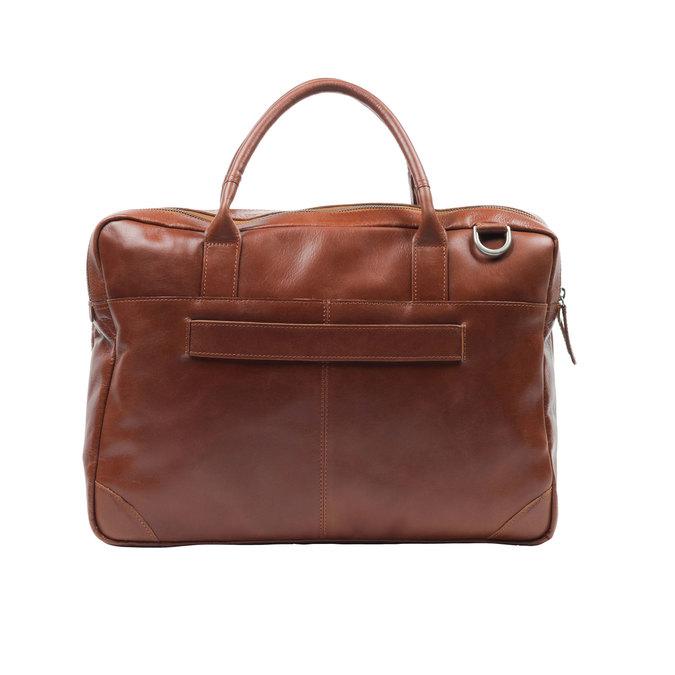 Kožená taška s krátkými uchy royal-republiq, hnědá, 964-4053 - 26