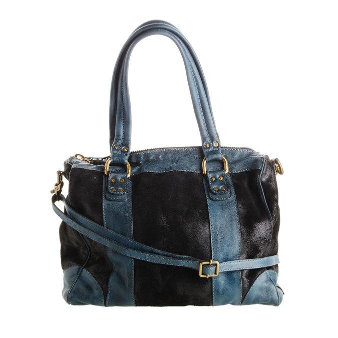 Dámská kožená kabelka bata, černá, 966-6101 - 26