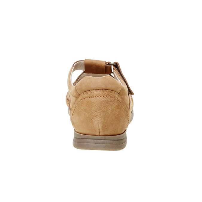 Pánské kožené sandály comfit, hnědá, 866-3184 - 17