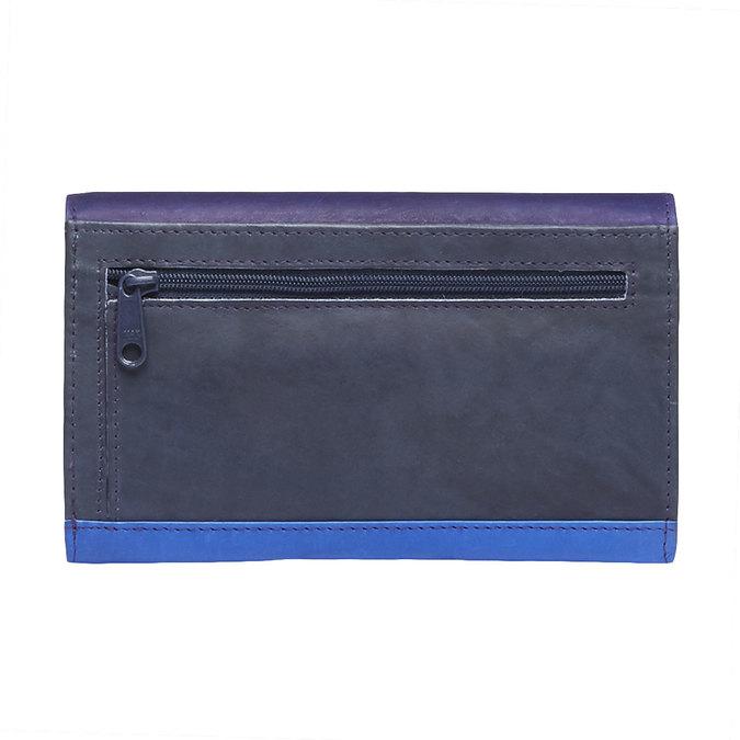 Dámská kožená peněženka bata, modrá, 944-9156 - 26