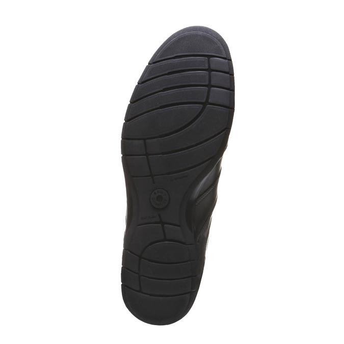 Kožené tenisky bata, černá, 824-6351 - 18