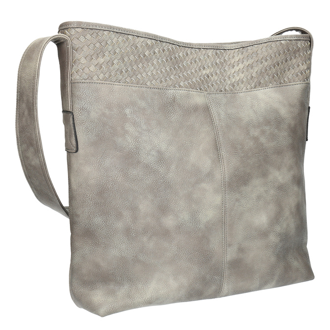 Šedá kabelka s dlouhým uchem bata, šedá, 961-2600 - 13