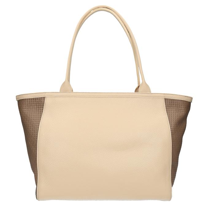 Kožená shopper kabelka bata, béžová, 964-3191 - 26