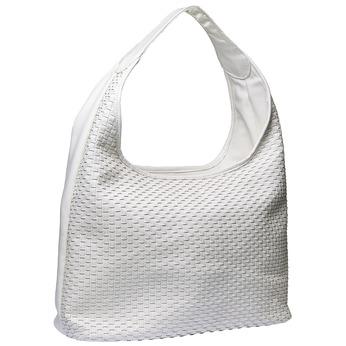 Hobo kabelka v pleteném designu bata, bílá, 961-1786 - 13