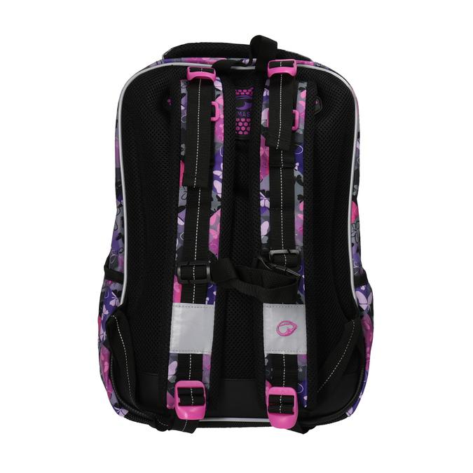 Školní batoh s motýlky bagmaster, růžová, fialová, 969-5607 - 26