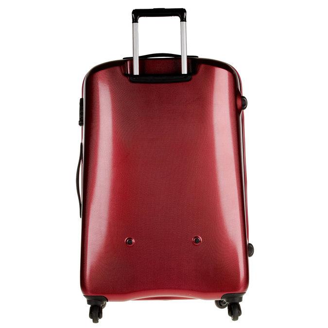 Skořepinový kufr na kolečkách carlton, červená, 960-5103 - 26