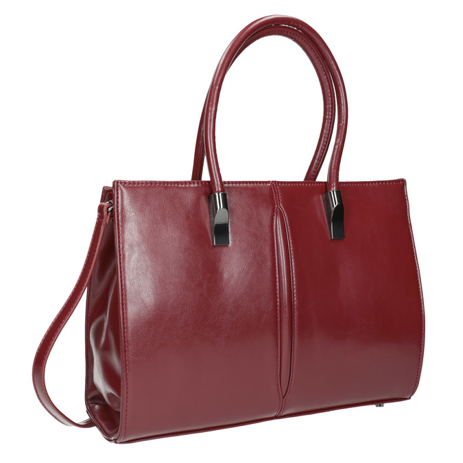 Červená kabelka s pevným dnem bata, červená, 961-5879 - 13