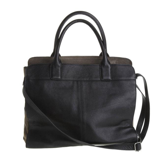 Dámská kožená kabelka fredsbruder, černá, 964-6088 - 26