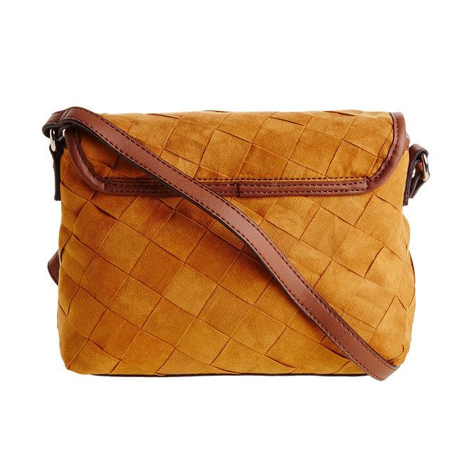 Crossbody kabelka s pleteným vzorem bata, hnědá, 969-3258 - 26