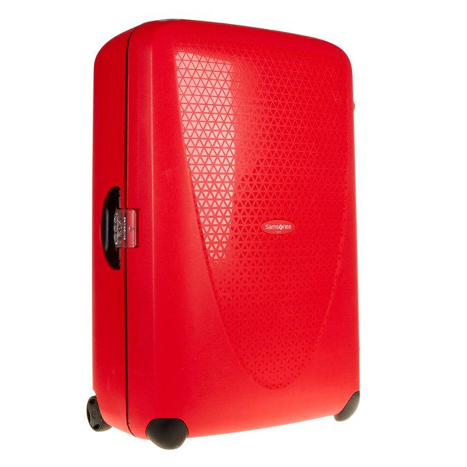 Skořepinový kufr na kolečkách samsonite, červená, 960-5324 - 13