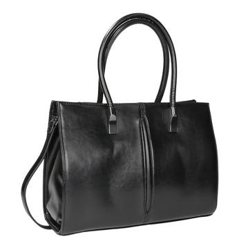 Černá kabelka s pevným dnem bata, černá, 961-6879 - 13
