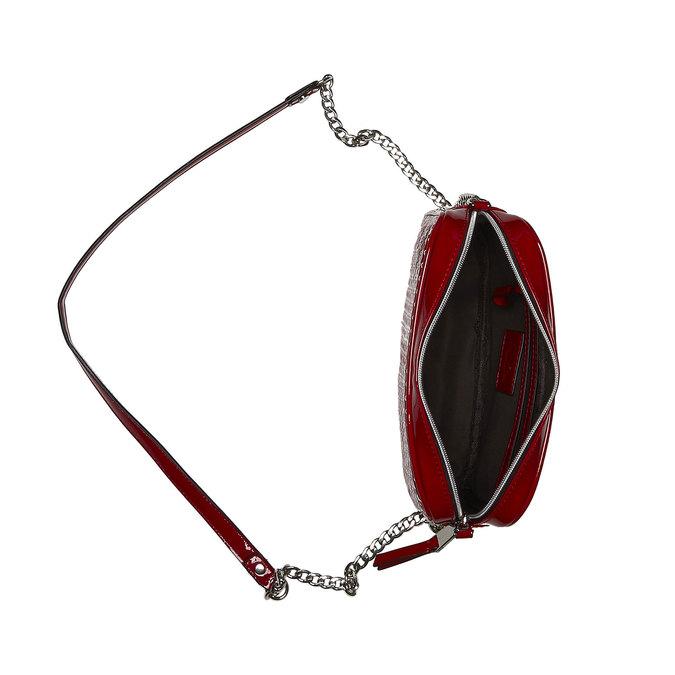 Crossbody kabelka s řetízkem bata, červená, 961-5797 - 15