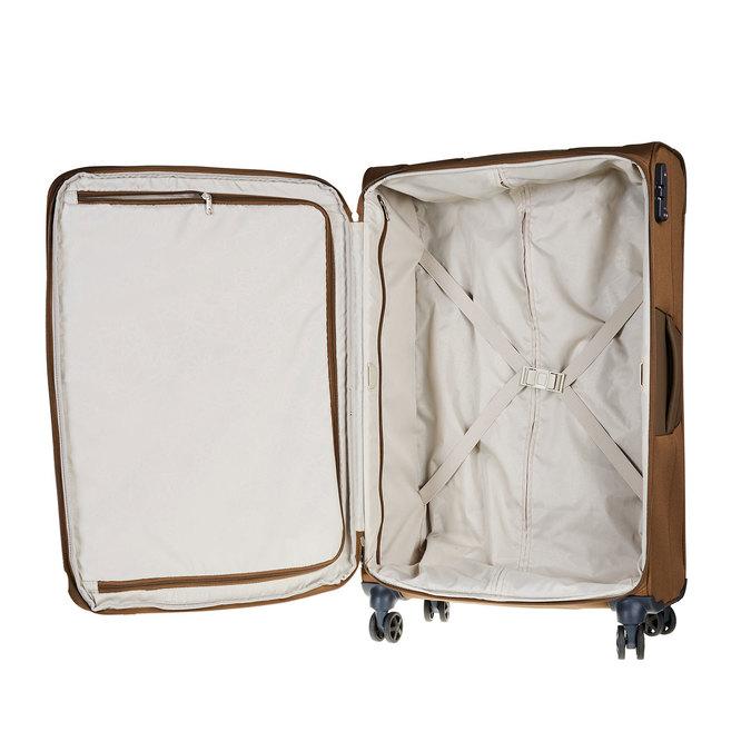 Textilní cestovní kufr na kolečkách samsonite, hnědá, 969-3343 - 15