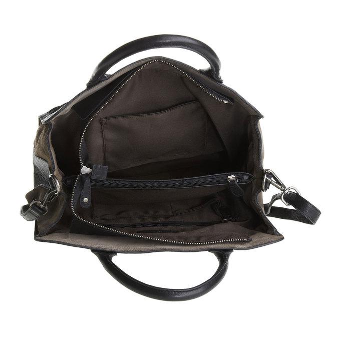 Dámská kožená kabelka fredsbruder, černá, 964-6088 - 15