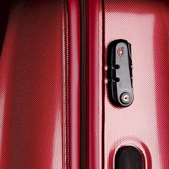 Skořepinový kufr na kolečkách carlton, červená, 960-5103 - 17