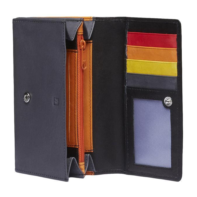 Dámská kožená peněženka bata, černá, 944-6156 - 15