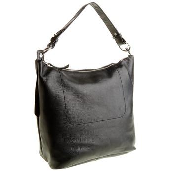 Kožená kabelka v Hobo stylu bata, černá, 964-6176 - 13