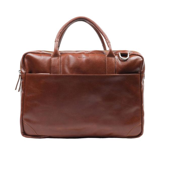 Kožená taška s krátkými uchy royal-republiq, hnědá, 964-4053 - 15