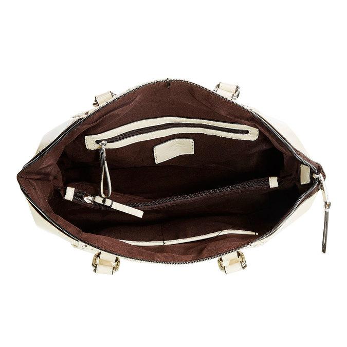 Dámská kabelka s odnímatelným popruhem bata, béžová, 961-8796 - 15