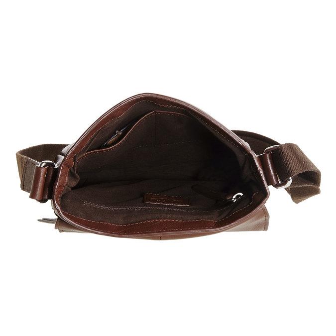 Pánská kožená taška přes tělo bata, hnědá, 964-4181 - 15