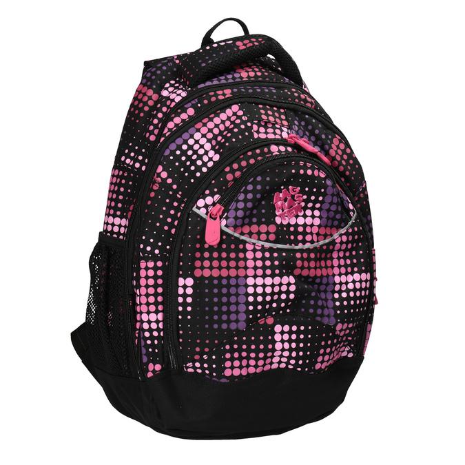 Dívčí školní batoh s puntíky bagmaster, růžová, 969-5601 - 13