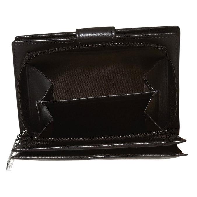 Dámská kožená peněženka bata, hnědá, 944-4117 - 17