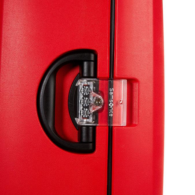 Skořepinový kufr na kolečkách samsonite, červená, 960-5324 - 17
