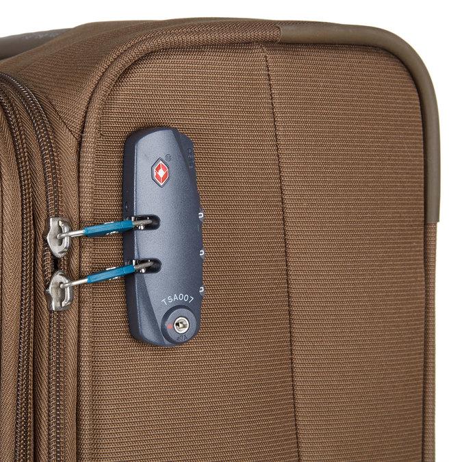 Textilní cestovní kufr na kolečkách samsonite, hnědá, 969-3342 - 17