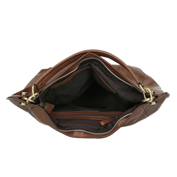 Hnědá kabelka v Hobo stylu bata, hnědá, 961-3808 - 15