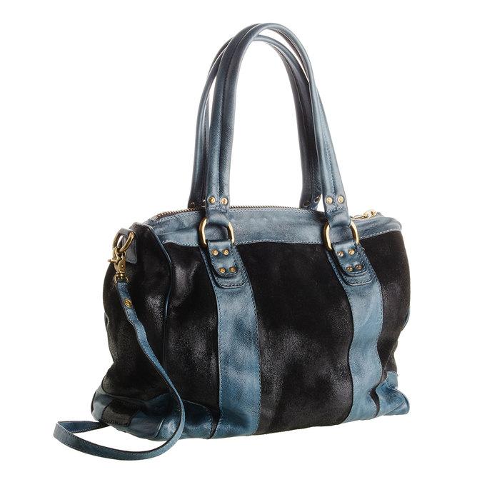 Dámská kožená kabelka bata, černá, 966-6101 - 13