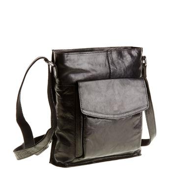 Pánská kožená  Crossbody taška bata, černá, 964-6141 - 13