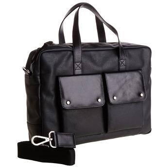 Pánská taška s výraznými kapsami bata, černá, 969-6314 - 13
