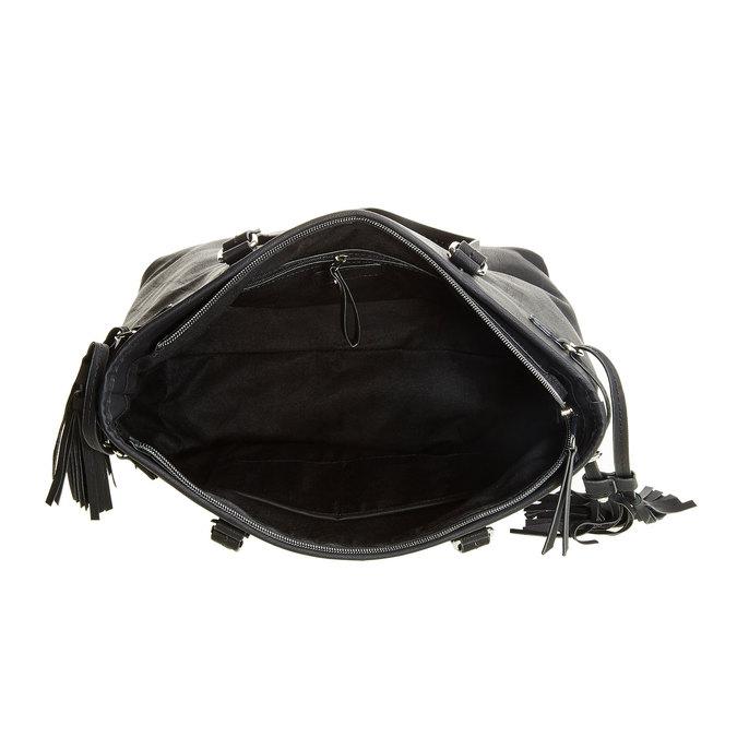 Dámská kabelka se střapci bata, černá, 961-6762 - 15