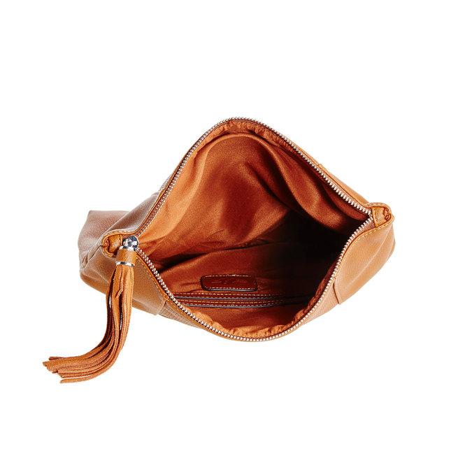 Crossbody kabelka se střapcem bata, hnědá, 961-3777 - 15