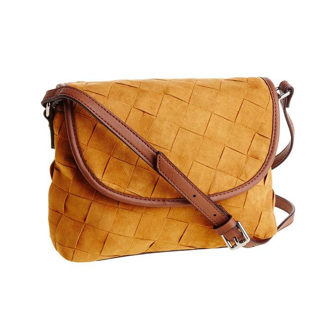 Crossbody kabelka s pleteným vzorem bata, hnědá, 969-3258 - 13