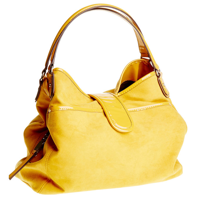 Žlutá dámská kabelka bata, žlutá, 969-8280 - 13