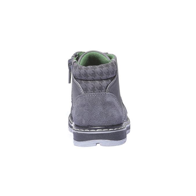 Kožené kotníčkové boty mini-b, šedá, 211-2138 - 17
