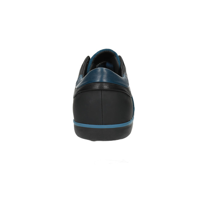 Kožené tenisky s prodyšnou podešví geox, modrá, 823-9032 - 17