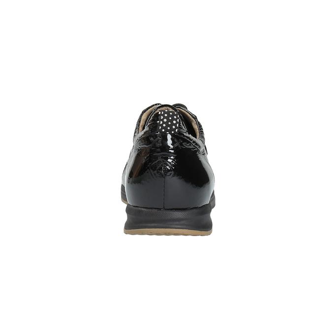 Dámské tenisky z lakované kůže geox, černá, 528-6030 - 17