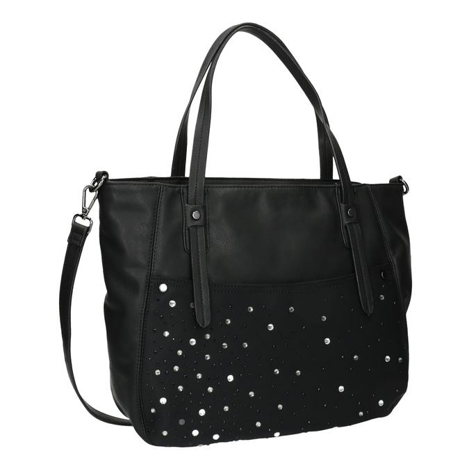 Dámská kabelka s kamínky bata, černá, 961-6247 - 13
