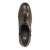 Kožené polobotky na širokém podpatku bata, hnědá, 794-4636 - 19
