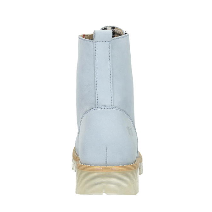 Kožená kotníčková obuv s průhlednou podešví weinbrenner, modrá, 596-9639 - 17